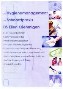 Hygiene Zertifizierung